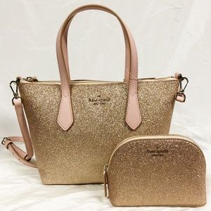 KATE SPADE Joeley Small Satchel Glitter Set